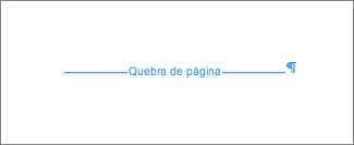 Quebra de página no Microsoft Word