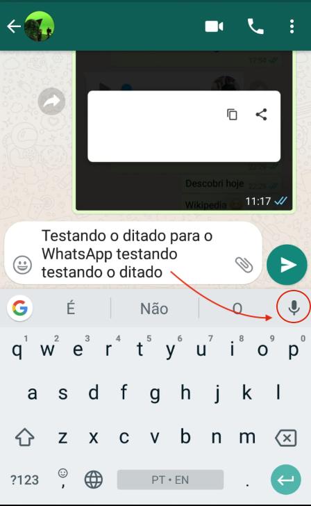Ditado no WhatsApp Áudio em Texto