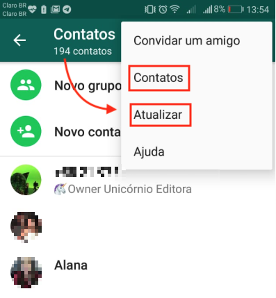 Excluir Contato WhatsApp 02