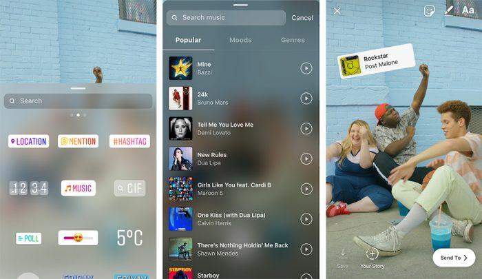 Instagram libera opção para adicionar música no Stories
