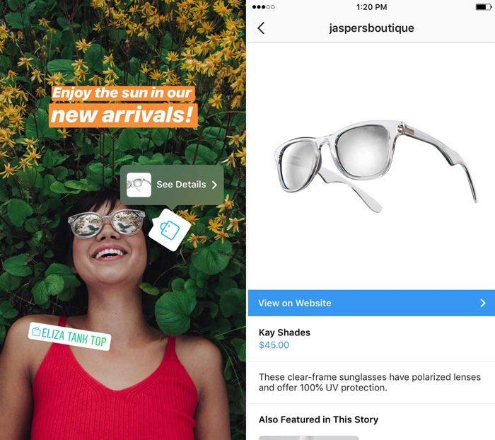 Instagram ganha recurso que permite vender produtos no Stories