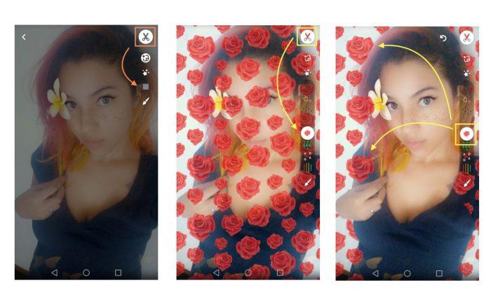 como usar o Snapchat BackDrop Trocar Fundo da Foto