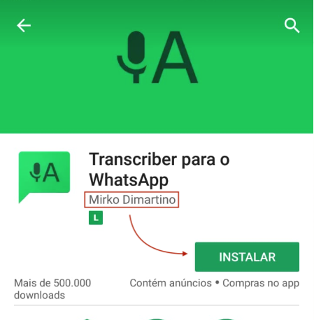 Transcriber para o WhatsApp (Mirko)