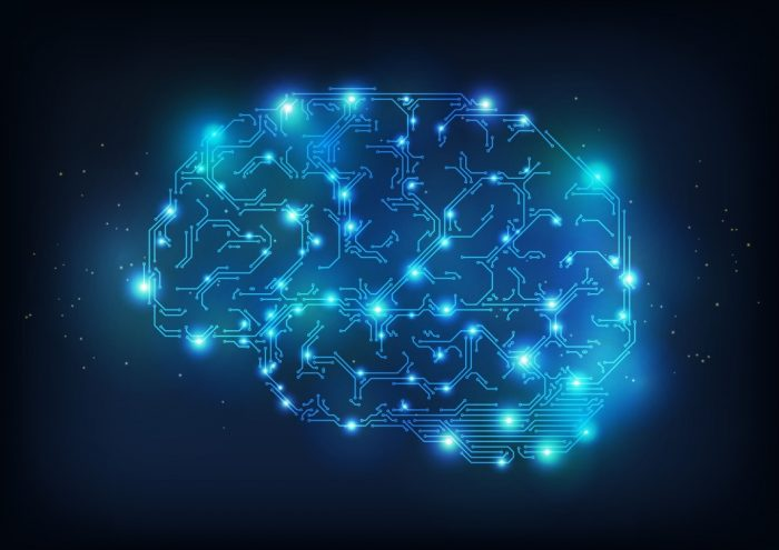 Cérebro digital - ilustração