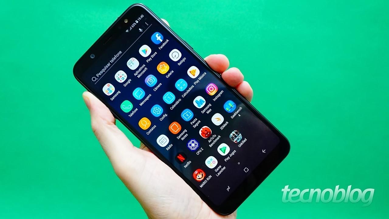 Review Samsung Galaxy A6+  tela não é tudo  análise vídeo  - Tecnoblog f6db946a4ab