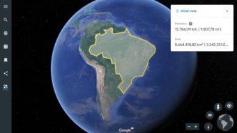 Google Earth ganha ferramenta para medir áreas e distâncias