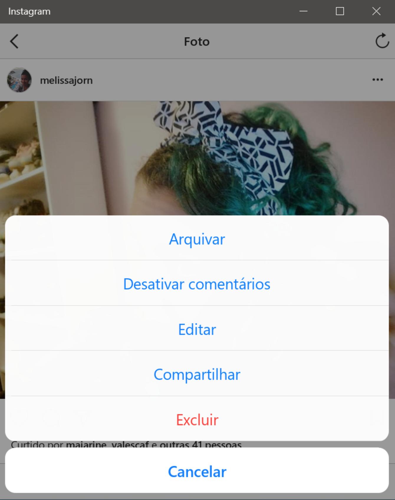 como apagar conta do instagram pelo iphone
