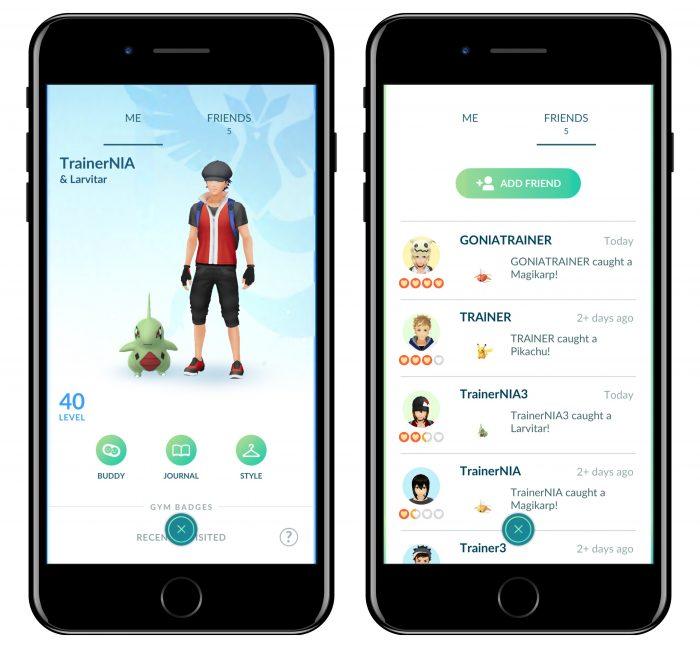 Lista de amigos (Imagem: Divulgação/Pokémon GO)