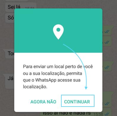 Autorizar WhatsApp Localização