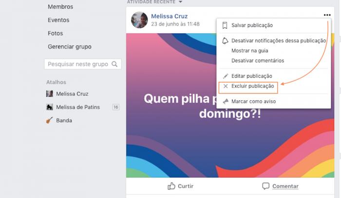 Comentários Grupos Facebook