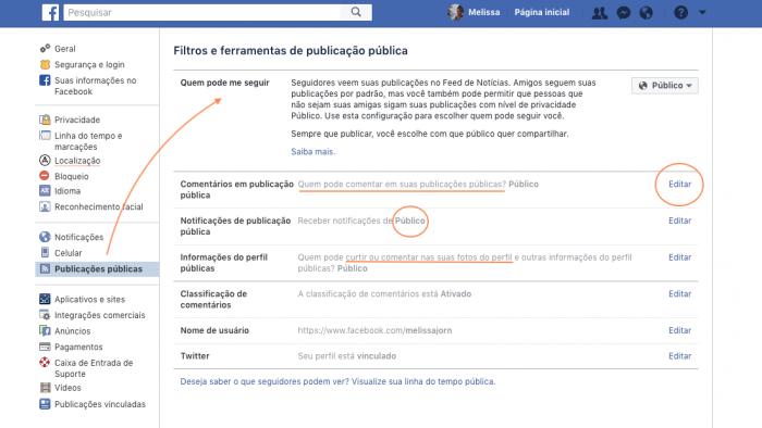 Comentários Posts Públicos Facebook
