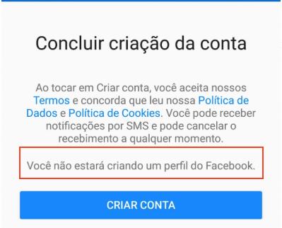Criar conta Messenger sem Facebook