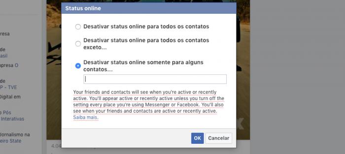 Desativar Bate-Papo Facebook