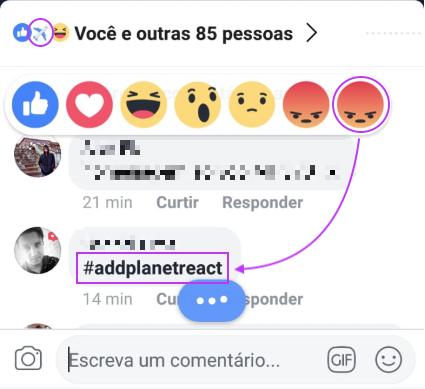 Emoji Raiva Dobrado Facebook Aviao