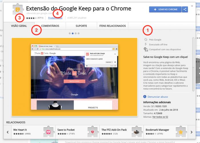 Extensão do Chrome