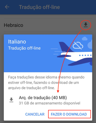 Google Tradutor Offline Baixar