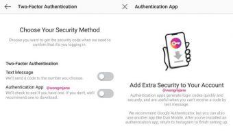 Instagram prepara autenticação de dois fatores sem mensagem SMS