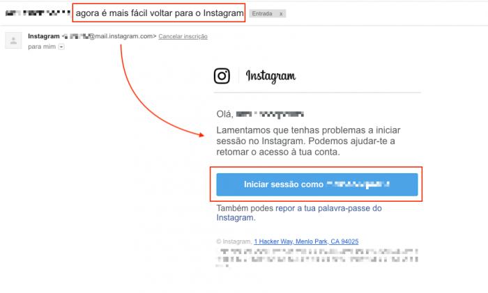 Instagram Hackeado Voltar