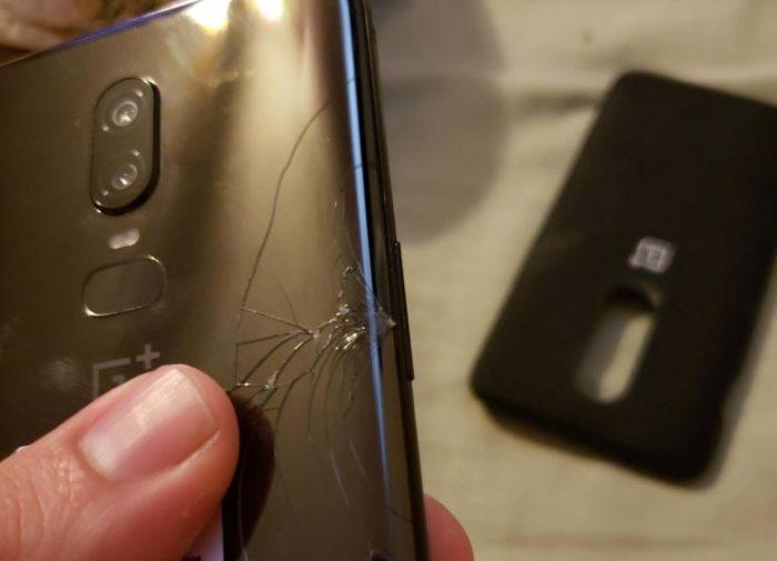 OnePlus6 trincado