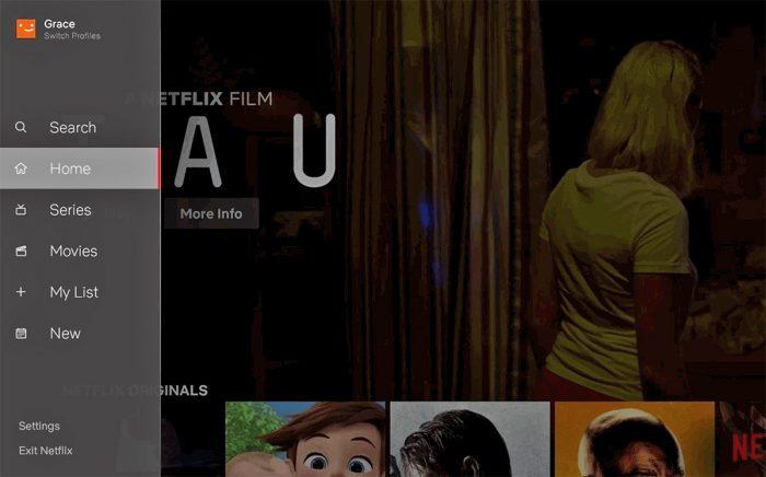 Nova interface da Netflix