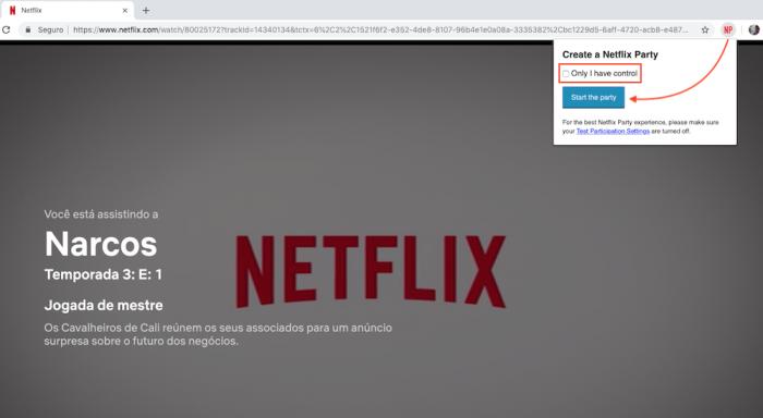Netflix Party Criar