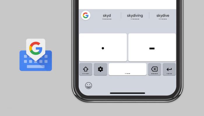 Código Morse no teclado do Google (Gboard)