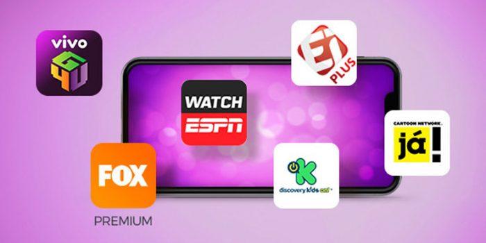 Serviços de streaming nos planos de internet da Vivo