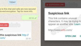 WhatsApp Beta para Android começa a identificar links suspeitos