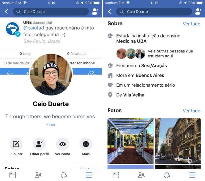 Facebook testa nova interface com visual mais próximo ao iOS