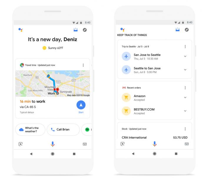 El Asistente de Google obtiene tarjetas predictivas con un resumen de su día. 2
