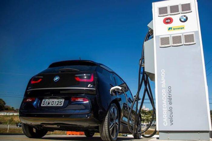 posto recarga combustivel carro elétrico