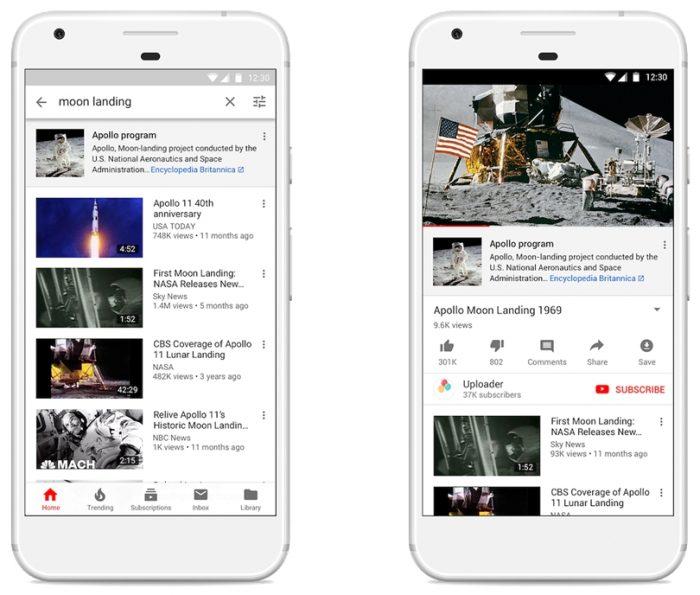 YouTube - links para notícias