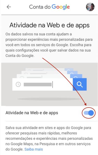 Atividade na Web e de App no Android