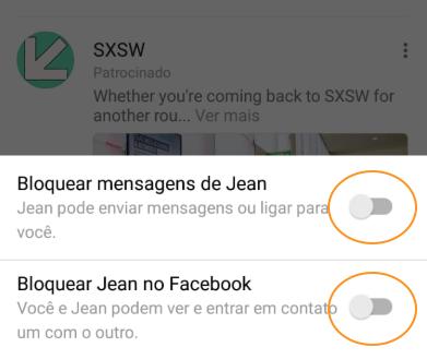 Bloquear Mensagens no Messenger