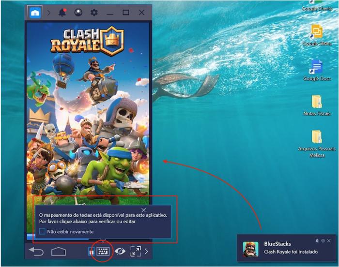 Clash Royale no PC - Teclado