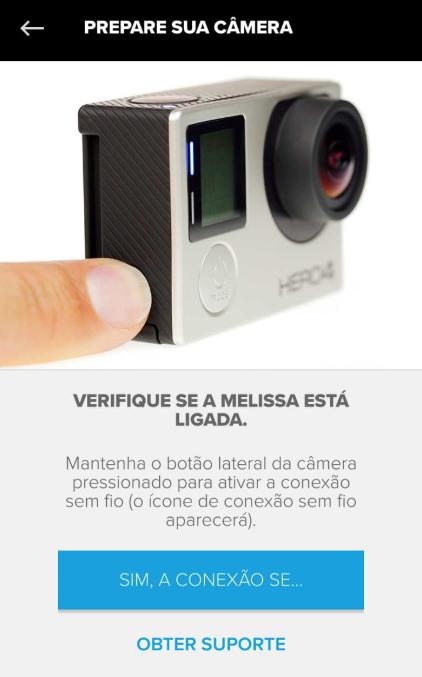 Conectar Camera GoPro - Ligar Wi-Fi
