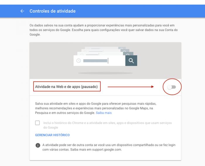 Controle de Atividades Google