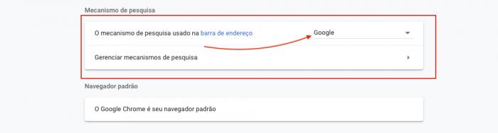 Mecanismo de Pesquisa Google Chrome