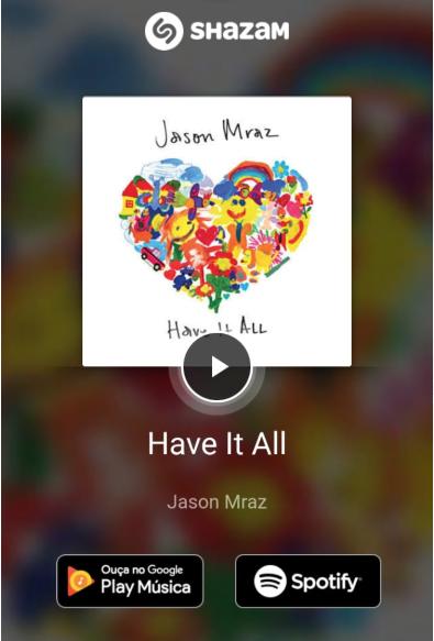 Musicas no Snapchat com Shazam