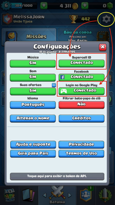 Supercell ID Clash Royale