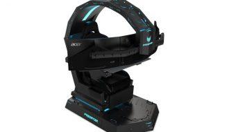 Acer fez uma cadeira para gamers que suporta três monitores