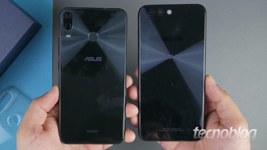 Zenfone 5 (à esquerda) e Zenfone 4 (à direita)