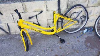 """Yellow diz que vandalismo e furto de bicicletas estão """"abaixo do esperado"""""""