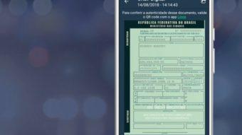Governo lança CRLV digital com mesmo valor legal do documento em papel