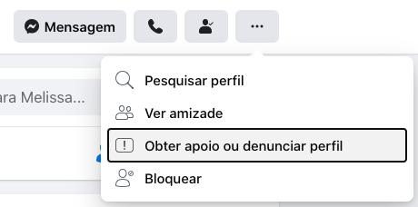 denunciar perfil fake facebook