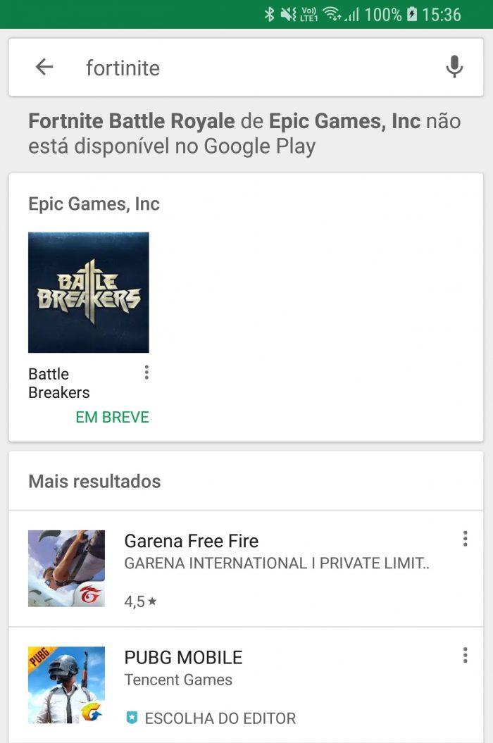 Google coloca aviso na play store de que fortnite no est alm de proteger seus usurios o google pode perder muito dinheiro ao no ver um dos games mais populares do mundo em sua loja de acordo com uma pesquisa stopboris Images