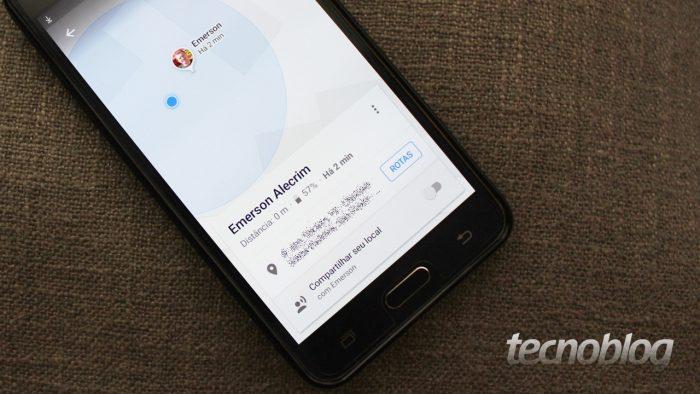 Google Maps - compartilhamento e bateria