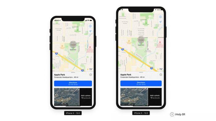 iOS 12 no iPhone de 6,5 polegadas