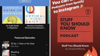 Instagram Stories permite compartilhar podcasts do Spotify