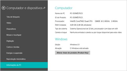 Versão Windows 8.1